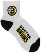 For Bare Feet Boston Bruins Ankle White 501 Medium Socks