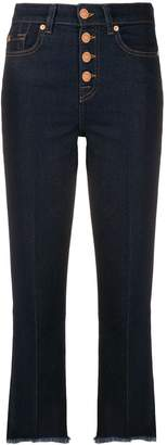 7 For All Mankind fringed highwaisted jeans