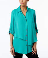 JM Collection Petite Tiered Shirt, Created for Macy's