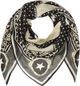 Givenchy Black and White Modal and Cashmere Wrap
