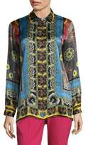 Etro Geo Paisley Silk Blouse