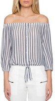 Willow & Clay Women's Stripe Off The Shoulder Shirt