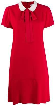 RED Valentino contrast collar short dress