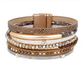 Saachi Bronze Madrid Multi-Strand Leather Bracelet