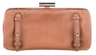 Devi Kroell Lizard Accordion Clutch