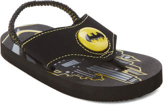 Batman Toddler/Kids Boys) Black Character Light-Up Sandals