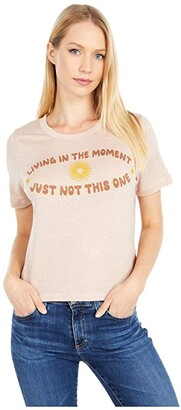 Chaser Living In The Moment Linen Jersey Cropped Short Sleeve Easy Tee (Glowing) Women's T Shirt