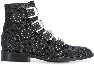 Givenchy Glitter Buckle Boots