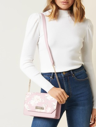 Forever New Trish Flap Over Crossbody Bag - Floral Print - 00