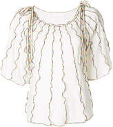 See by Chloe piped rainbow top