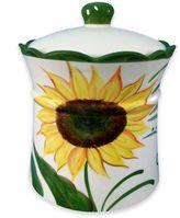 Lorren Home Trends Sunflower Design Cookie Jar