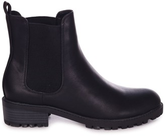 Linzi ACE - Black Matte Nappa Classic Chelsea Boot With Elasticated Gusset