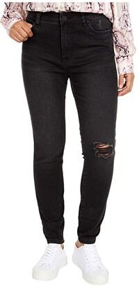 KUT from the Kloth Connie High-Rise Fab Ab Ankle Skinny in Hundred (Hundred Wash) Women's Jeans