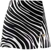 Versace zebra pattern mini skirt