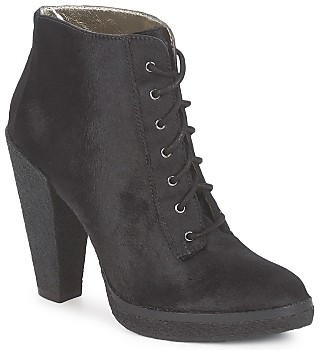 Belle by Sigerson Morrison HAIRCALF women's Low Ankle Boots in Black