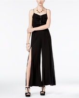 American Rag Juniors' Ruffled Wide-Leg Jumpsuit, Only at Macy's