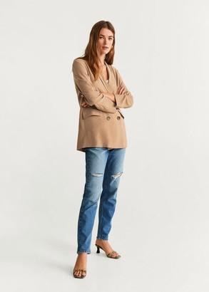 MANGO Double-breasted blazer brown - XXS - Women