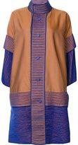 Issey Miyake oversized coat - women - Cotton/Polyester - 1