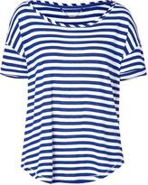 Striped Malibu T-Shirt in Cobalt/White