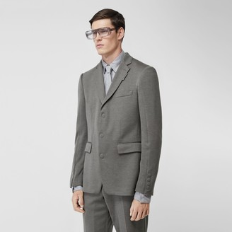 Burberry English Fit Cashmere Silk Jersey Tailored Jacket