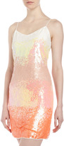 Romeo & Juliet Couture Ombre Sequin Dress, Coral
