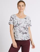 Marks and Spencer Quick Dry X-Back Printed T-Shirt