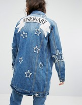 MANGO Denim Jacket With Star Embroidery