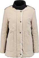 Maje Quilted cotton-blend shell coat