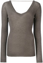 Brunello Cucinelli wide neck jumper - women - Polyamide/Polyester/Cupro/Wool - S