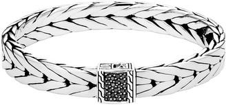 John Hardy Men's Modern Chain Bracelet with Black Sapphire