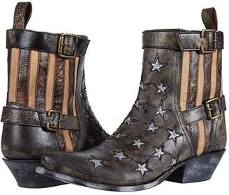 Dan Post Star Struck (Black Distressed) Women's Boots