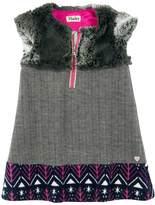 Hatley Faux Fur Herringbone Dress