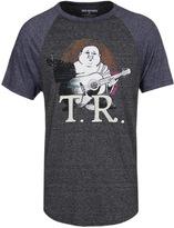 True Religion Black Marl Buddha Raglan Short Sleeve T-shirt