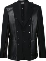 Comme des Garcons patchwork blazer - men - Acrylic/Polyester/Cupro/Artificial Leather - S