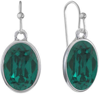 Liz Claiborne 1 Pair Green Drop Earrings