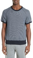 Todd Snyder Men's Short Sleeve Stripe Sweatshirt
