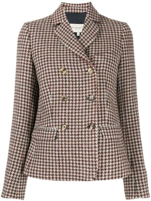 Holland & Holland Houndstooth Double-Breasted Blazer