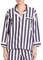 Sleepy Jones Marina Striped Cotton Pajama Shirt