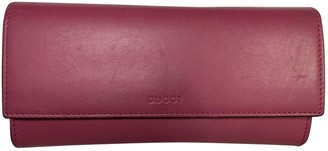 Gucci Burgundy Leather Wallets
