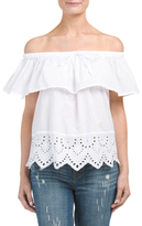 Juniors Off The Shoulder Tie Top