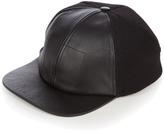 Balenciaga Leather-visor wool-blend baseball cap