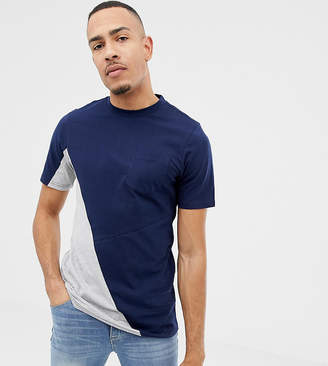Another Influence TALL Diagonal Pocket T-Shirt-Navy