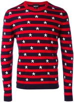 Just Cavalli stars and stripes sweater - men - Cotton/Viscose - M