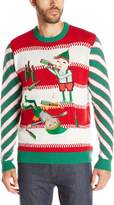 Blizzard Bay Men's Drunken Elves Ugly Christmas Sweater