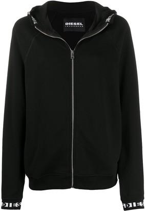Diesel Logo Trim Hooded Jacket