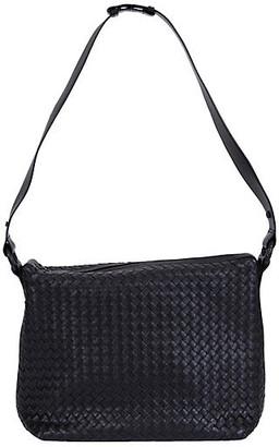 One Kings Lane Vintage Bottega Veneta Black Intrecciato Handbag - Vintage Lux