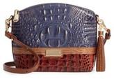 Brahmin Andesite Lucino - Mini Duxbury Leather Crossbody Bag - Blue