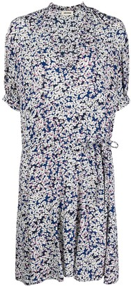 Zadig & Voltaire Floral Print Flared Dress