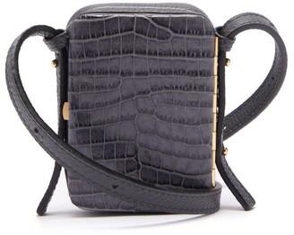 Lutz Morris Norman Contrast-panel Leather Cross-body Bag - Navy