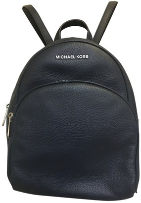 Michael Kors Abbey Navy Leather Backpacks
